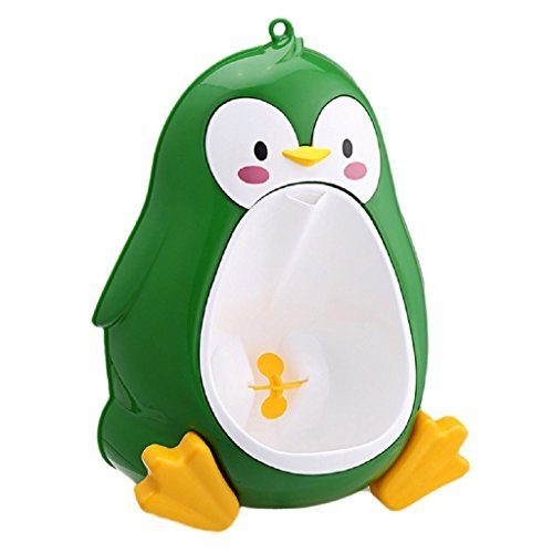 Melon Lovely Penguin Baby Potty Toilet Training Urinal for Boys Pee Trainer Bathroom potties baby, Urinal attach to toilet for boy Infant toddlers, Urinal chamber for little john (Green)