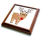 "3dRose trv_242425_1 Cute Trivet With Tile, 8 by 8"", Brown"
