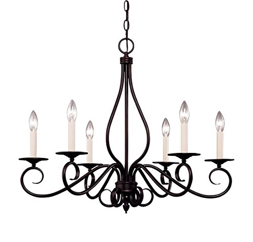 (Savoy House KP-103-6-13 Chandelier with No Shades, English Bronze Finish)