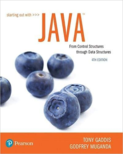 Starting Out With Java From Control Structures Through Data
