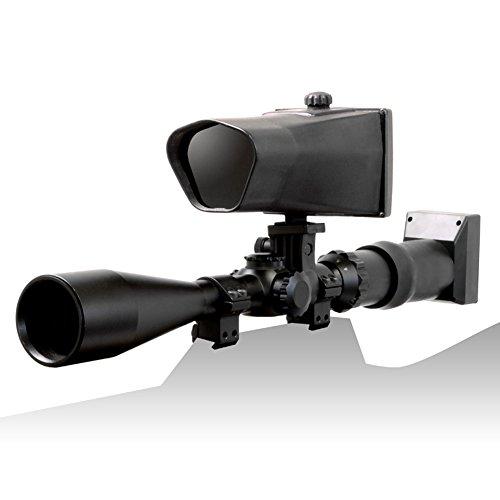 NiteSite Wolf 330 Yards Identification Range Scope Mounted Night Vision System for Zero Light Hunting (Black, Full Kit) by Nite Site