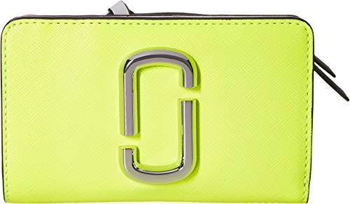 - Marc Jacobs Women's Snapshot Flouro Compact Wallet Bright Yellow Multi One Size