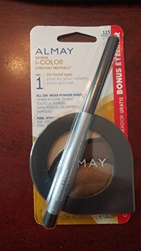 Almay Intense i-Color Everyday Neutrals 115 for Hazel Eyes All Day Wear Powder Shadow & Bonus Eyeliner