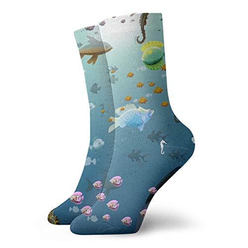 YUANSHAN Socks Fish Park Women & Men Socks