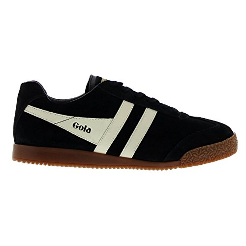 Gola Sport Womens Harrier Suede Black Ecru Nubuck Trainers 8 US