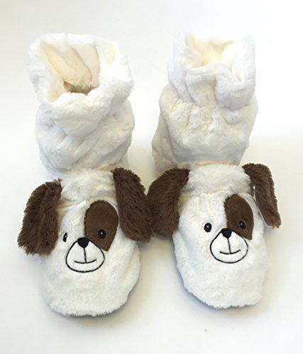 Microwavable Aromatherapy Cozy Hugs Bootie Slippers - Dog (Aromatherapy Booties)