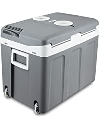 Portable Electric Mini Fridge Car Auto Cooler 12v Travel Warmer Camping w/ Wheel