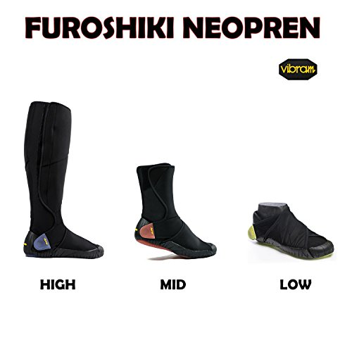 En Furoshiki bleu bottes Fivefingers Noir High Wickelschuh Néoprène Vibram nouveaux fTZwPq