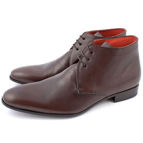 Exclusif Paris Olson Cuir Marron, Bottines homme homme Cuir Marron Taille 43