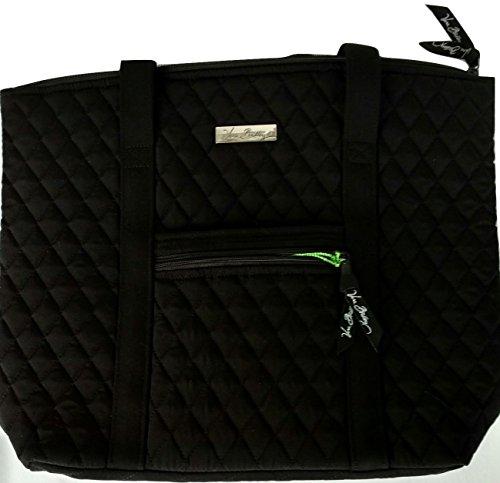 Vera Bradley Villager Handbag Shoulder Bag Tote in Classic (Tote Black Fabric Handbags)