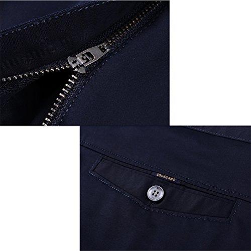 Uomo Per Zhhlaixing Pantaloni Trousers Slim Riso Da Elegante Abito Cerimonia Men's Festa Suit Fit Bianco Business Y6gb7yvf
