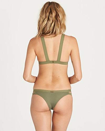 Billabong Women's Meshin with You Isla Bikini Bottom, Sea Grass, S (Pinnacle Green Grass)