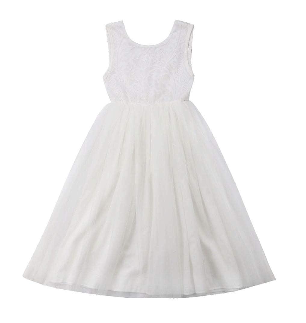 4cb1353888692 WangsCanis Robe Bébé Fille Princesse Paillettes Noeud Papillon Anniversaire  Mariage Cérémonie  Amazon.fr  Vêtements et accessoires