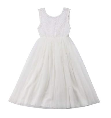 3cbfe144ca643 WangsCanis Robe Bébé Fille Princesse Paillettes Noeud Papillon Anniversaire  Mariage Cérémonie pour Enfant 12-24