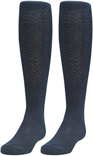 Joe Fresh Baby Girl Pointelle Cotton Tights 2-Pack, 12-24 (Pointelle Tights)