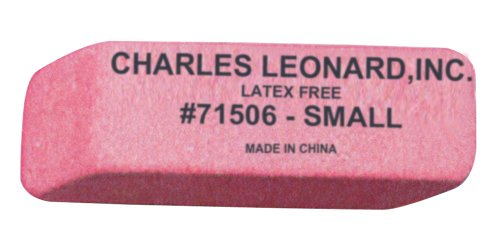 (Charles Leonard Eraser, Synthetic, Latex Free, Wedge Shape, Pink, Small, 36/Box (71506))