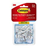 Command Wire Hooks, Small, Clear, 9-Hook, 4-Pack