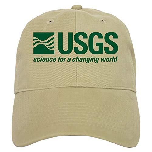 CafePress USGS Baseball Cap with Adjustable Closure, Unique Printed Baseball Hat Khaki (Best Nautical Chart App)