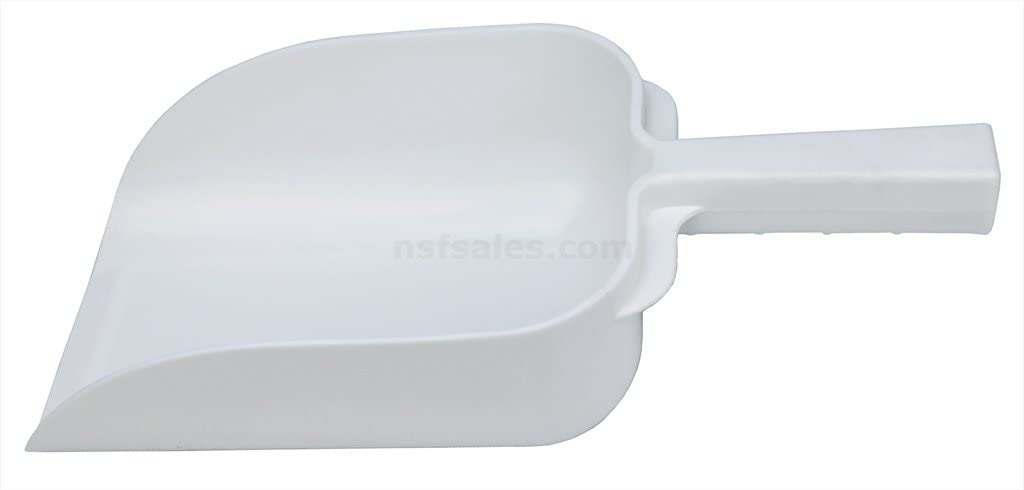 New Star Foodservice 34486 Polycarbonate Plastic Utility Ice Scoop, White, 64-Ounce