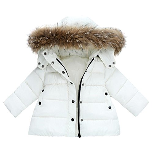 Konfa Baby Girls Boys Lovely Cartoon Bear Striped Hooded Coat,Suitable for 0-4 Years Old,Winter Warm Thick Cloak Tops