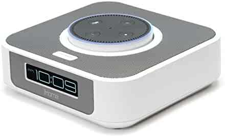 iHome iAVS1W Bedside Stereo Speaker System for Amazon Echo [Dot Sold Separately] - White