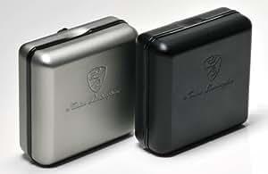 "Alta calidad, elegante carcasa de aluminio ""Lamborghini negro para accesorios como pilas, filtros, limpieza o diferentes modelos de iPod, etc."