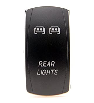 Laser Blue Backlit Rocker Switch Rear Lights 20A 12V On/off LED Light 4x 4 Off Road FOR ALL ATV UTV OFF ROAD 4X4 VEHICLES TRUCKS JEEP SUV BOAT RV