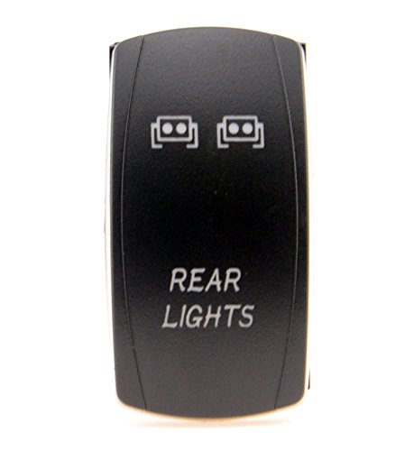 Laser Blue Backlit Rocker Switch Rear Lights 20A 12V On/off LED Light__4x 4 Off Road FOR ALL ATV UTV OFF ROAD 4X4 VEHICLES TRUCKS JEEP SUV BOAT RV
