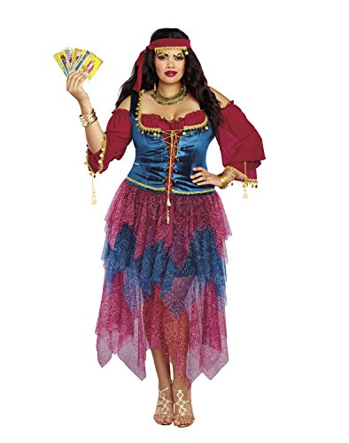Plus Size Costumes - Dreamgirl Women's Plus Size Gypsy, Multi, 3X