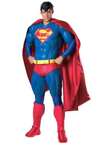 [Rubies Mens Superman Collectors Edition Marvel Deluxe Superhero Costume, Standard (38-44)] (Plus Size Deluxe Superman Costumes)