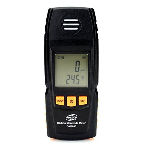 """1.8"""" LCD Carbon Monoxide Meter - Black"""