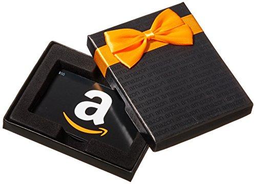 Amazon.ca $50 Gift Card in a Black Gift Box (Classic Black Card Design)