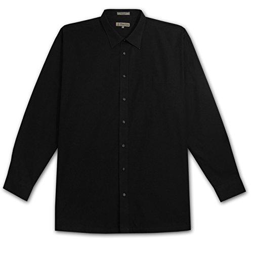 Foxfire Tall Mens Long Sleeve Easy Care 1 Pocket Shirt (Black 3X-T)