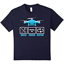 Build Crash Repeat Drone Pilot RC Tricopter Aircraft T-Shirt