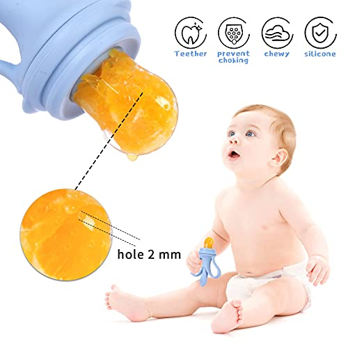 Baby Fruit Feeder, Banana Mesh Pacifier Infant Toddler Fresh Food, Babies More Than 3 Months Feeding Eating Supplies Silicone Teething Toys, Removable with Storage Box