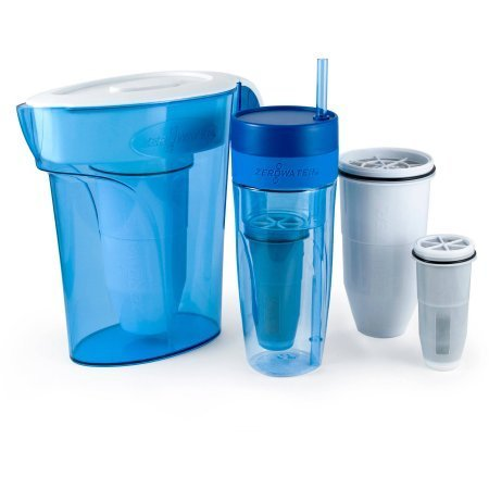 ZeroWater ZB262 Includes ZP-006 6-Cup Pitcher with ZR-017 2-pack of replacement Filters / ZT-026 26-Ounce Tumbler and ZR-230 2-Pack of Tumbler replacement filters