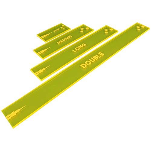 Gaslands Miniatures Game Shooting Gauges Set, Fluorescent Yellow (4)