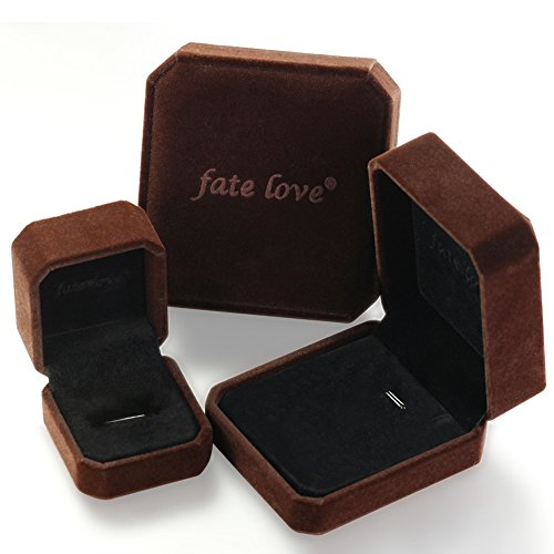 Fate Love 2pcs Romantic ''I will always be with you'' Couples Promise Engagement Wedding Ring Set/ Ring Necklace A Pair for Lover by Fate Love Jewelry (Image #6)