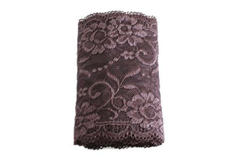 Wide Stretch Lace for Headband Lingerie Arm Warmer and Leg Warmer (Brown) ()