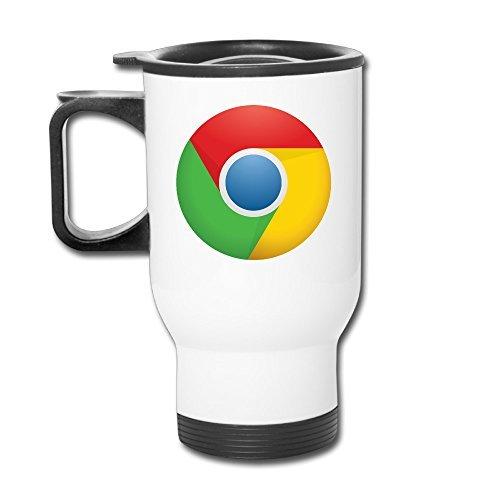 Google Logo 14oz Stainless Steel Vacuum Insulated Travel Mug White
