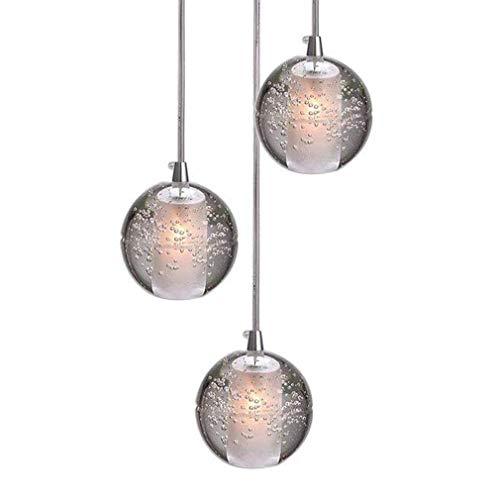 (Ceiling Light, G4-LED Crystal Ball Pendant Light, Height Adjustable Chandelier Living Room Attic Light Staircase Foyer Restaurant Bar Bedroom Chrome Hanging Lamp 1/5/7/14/26/36 Head)