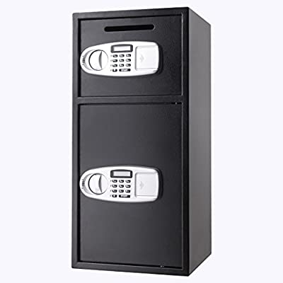 VEVOR Security Safe Box Double Door Digital Safe Depository for Money Gun Jewelry