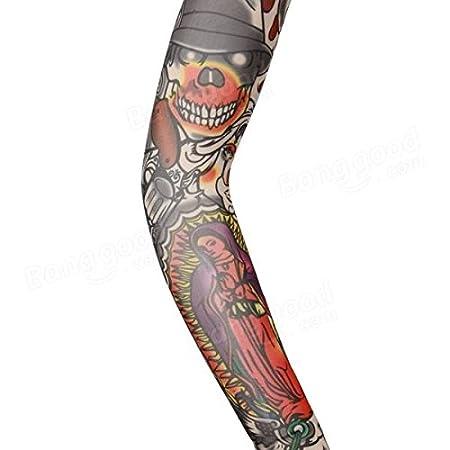 Poseidon Montar a medias del brazo del tatuaje mangas moto ...