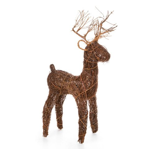 Angelvine Deer Reindeer Sculpture - Grapevine Reindeer