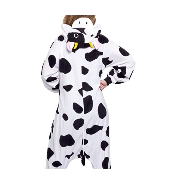 Silver Lilly Unisex Adult Pajamas – Plush One Piece Cosplay Cow Animal  Costume e4e223085