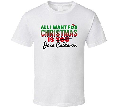SHAMBLES TEES Jose Calderon All I Want for Christmas Dallas Basketball T Shirt L White