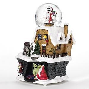 nightmare before christmas christmastown snowglobe jack skellington sally oogie boogie