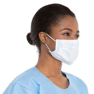 FLUIDSHIELD Level 3 Fog-Free Procedure Mask, High Fluid Protection, ASTM F2100-11, Blue, 00148 (Box of 40)