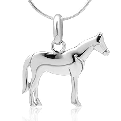 925 sterling silver horse pony charm equestrian cowgirl pendant 925 sterling silver horse pony charm equestrian cowgirl pendant necklace 18 inch snake chain aloadofball Gallery