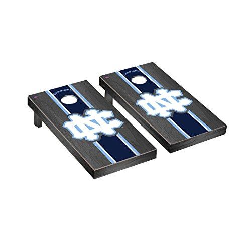 Victory Tailgate College Vault North Carolina UNC Tar Heels Regulation Cornhole Game Set Onyx Stained Stripe Version ()